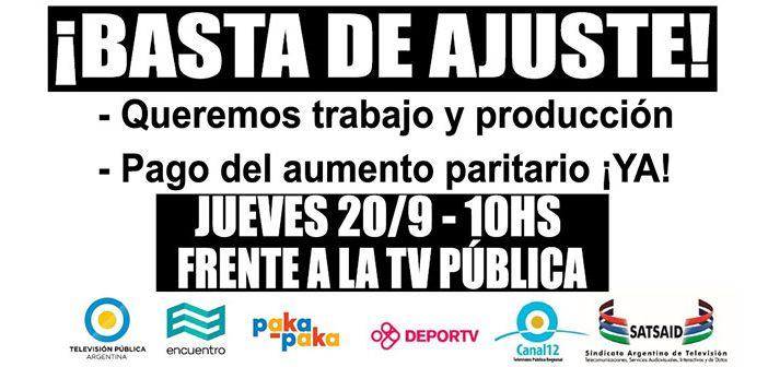Movilización contra el ajuste en los Canales Públicos