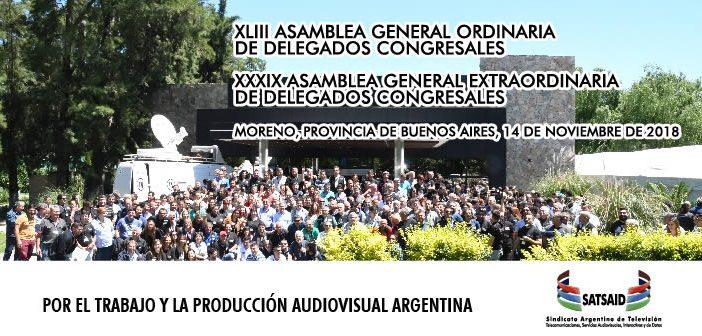 Se realizó la XLIII Asamblea General Ordinaria de Delegados Congresales