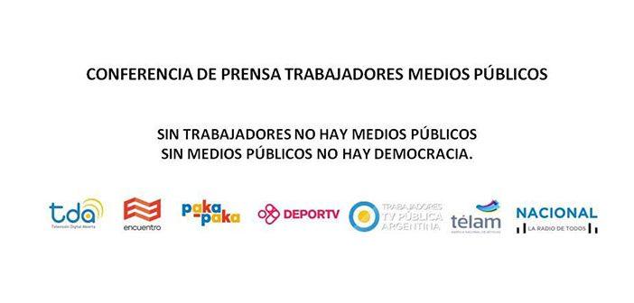 Conferencia de prensa Trabajadores Medios Públicos