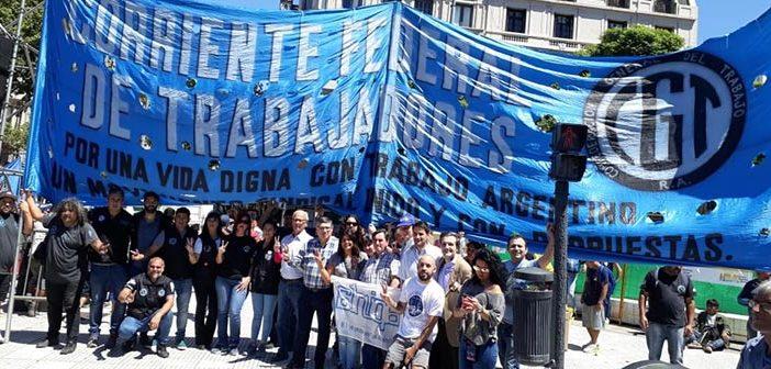 La Corriente Federal marchó junto a las organizaciones sociales