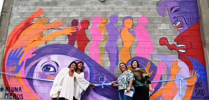Satsaid san luis inaugur un mural contra la violencia de for El mural avisos de ocasion
