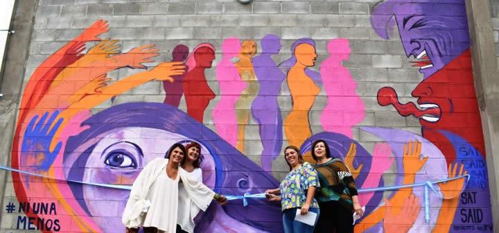 Satsaid san luis inaugur un mural contra la violencia de for El mural de mosaicos