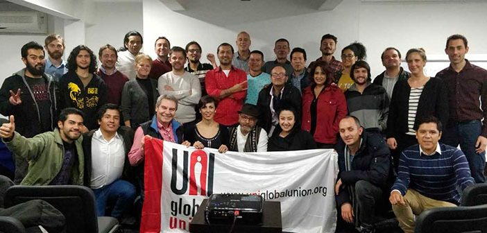 Taller Nacional de organización audiovisual en Colombia