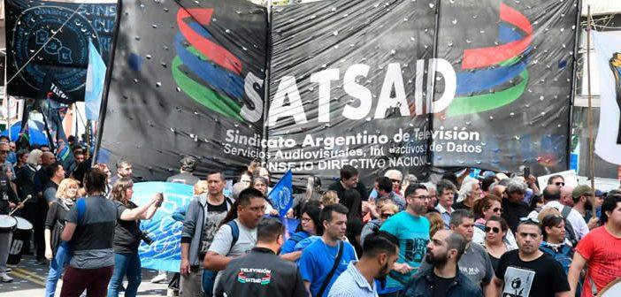 SATSAID presente junto a la CFT en Plaza de Mayo contra la política económica del Gobierno Nacional