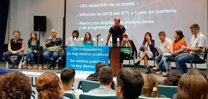 NO AL VACIAMIENTO DE LOS MEDIOS PÚBLICOS: Conferencia de Prensa de los trabajadores