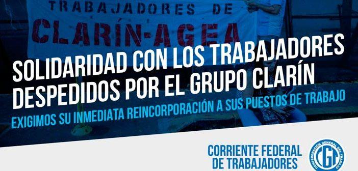 Nuestra solidaridad con los trabajadores despedidos por el Grupo Clarín