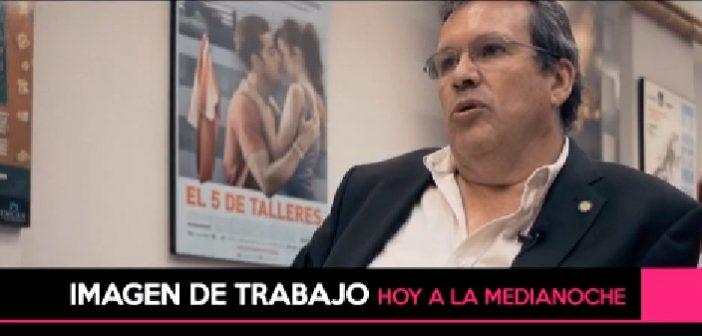 HOY A LA MEDIANOCHE, IMAGEN DE TRABAJO CON: ARNALDO DUBIN Y TRISTÁN BAUER